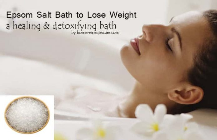amazing epsom salt bath to lose weight how to take one