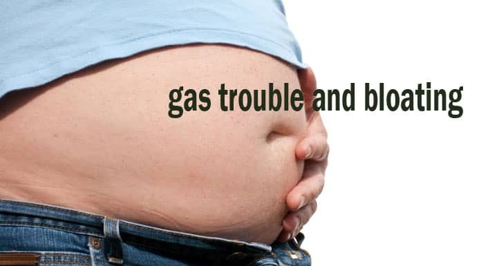 how to get rid of trapped gas in back