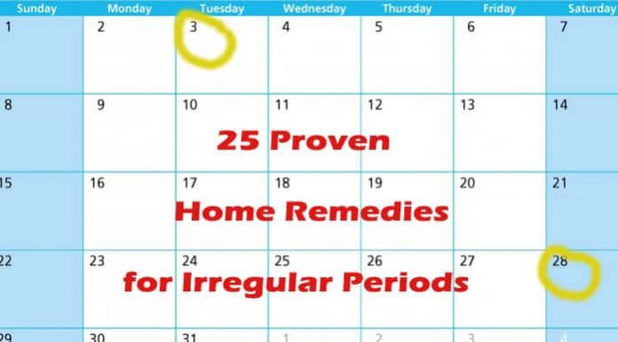 Home Remedies for Irregular Periods